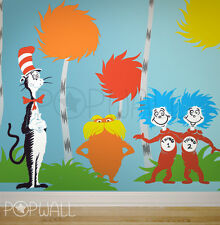 Children Wall Decals Wall Sticker - Dr seuss Characters, Lorax, Thing 1 Thing 2