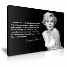 ' Marilyn Monroe & I Believe Quotes ' Canvas Print ~ Eternal Sexy Icon ~