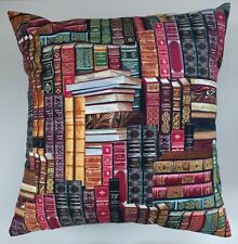 """Cushion Cover in Timeless Treasures Vintage Library Books Gold 14"""" 16"""" 18"""" 20"""""""
