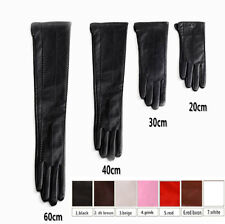 custom made 30cm to 80cm long wrist buttons top quality real leather gloves