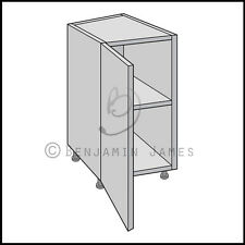 Kitchen Carcass Unit - Splayed Diagonal Base Cabinet - 18mm Back - 100 Colours!