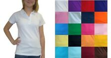 Girls Polo Shirt Short Sleeve School Uniform Sz 4 6 8 10 12 14 16
