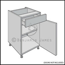 Mfi 500mm base unit kitchen carcass 4 drawer ebay for Cream kitchen carcasses