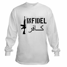 INFIDEL COLT ASSAULT RIFLE AR-15 PRO GUN USMC T-SHIRT LONG SLEEVE T-SHIRT