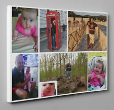 PERSONALISED PHOTO ON CANVAS PRINT YOUR PICTURE READY TO HANG SQUARE BEST GIFT