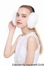 664 New real fox/Rabbit fur 8 color warmer Ear muffs earmuffs