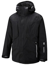 Surfanic Mens Ski Jacket Black Snowboard Winter Coat New Warm Snow Cheap