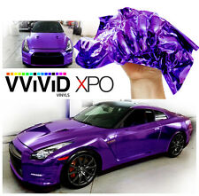 Purple Chrome New Roll Car Decal Vinyl Wrapping Film Bubble-Free PCR5M