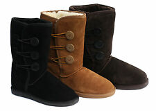3 Button UGG Boots Premium Australian Sheepskin  Womens Ladies sizes 6-11