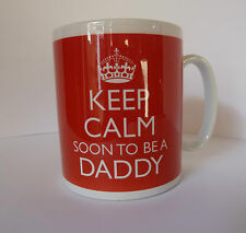 KEEP CALM SOON TO BE A MUM DAD DADDY MOMMY ETC NEW BABY GIFT MUG CUP & CARRY ON