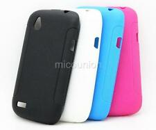 Anti-slid Soft Rubber TPU Gel Case Cover Back Skin For HTC Desire V T328w