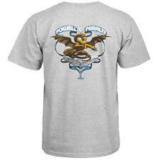 Powell Peralta Banner Dragon T-Shirt Heather Gray  - Ships Free!