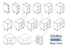 Kitchen Carcass Cabinet Unit - ClicBox - White - Base Units - All Types
