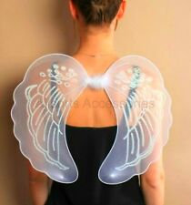 Large White or Pink Angel Wings Fancy Dress Hen Night Nativity Fairy Dressing Up