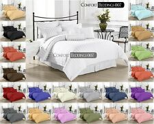 Hotel New Brand Cal-King 1pc Fitted Sheet 1000TC 100%Egyptian Cotton IN Al Color