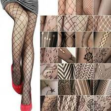 NEW LADIES WOMENS SEXY BLACK FISHNET PATTERN STRETCH STOCKINGS PANTYHOSE TIGHTS