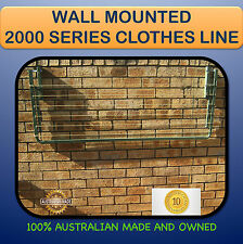 FOLD DOWN CLOTHESLINE wall mounted Australian made  2000mm X 1200mm