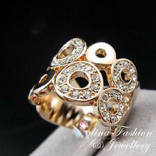 18K Rose Gold Plated Made With Swarovski Crystal Hollow-out Circle Pattern Ring