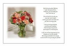 Personalised Wedding Day Poem ABSENT Mother to Bride on Wedding  ADD OWN PHOTO