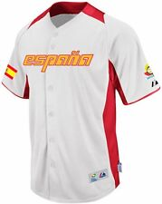 Team Spain Majestic 2013 World Baseball Classic Home On Field Authentic Jersey