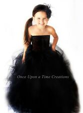 Black Witch Spooky Scary Girls Tutu Dress - 12M 2T 3T 4T 5T Halloween Costume