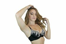 SEXY SEQUIN BEADED BRA TOP BELLY DANCE BURLESQUE CABARET  HANDMADE GREAT PRICE