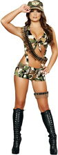 Womens Spicy Seductive Military Army Brigadier Soldier Costume Halloween Outfit