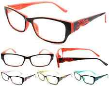 Plastic Color Reading Glasses with Flower Design