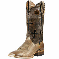 Ariat Ranchero Mens Cowboy Boot Quick Sand with Black Eclipse 10011800