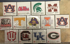 NCAA ~ COLLEGIATE COASTER SET (2) ~ MANY TEAMS TO CHOOSE FROM! ~ FREE SHIPPING!
