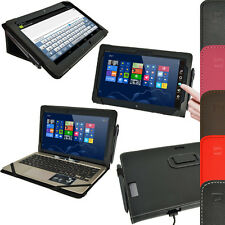 """Leather Folio Flip Stand Case Cover Holder for Asus Vivo Tab TF810C TF810 11.6"""""""