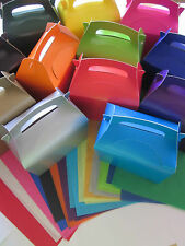 10 x GIFT BOXES AND x 2 TISSUE PAPER FAVOUR PICNIC LUNCH MEAL BOX - PARTY FOOD