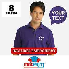 Personalised Gildan (GD040) Embroidered Polo Shirts, Workwear, Customised Polos