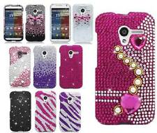 For Motorola Moto X Phone Full Diamond Bling Girly Hard Snap On Cover Case