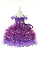 Baby Princess Flower Girl Corset Star Glitter Pageant Wedding Dress Made in USA