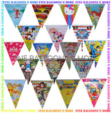BIRTHDAY FLAG BANNER BUNTING (20+ DESIGNS) PARTY SUPPLIES -1 PACK