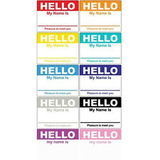 300 Hello My Name Is Name Tag Labels Stickers Badges 10 Colors Options