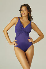 MIRACLESUIT Pandora in Eggplant 68883 CONTROL SWIMSUIT