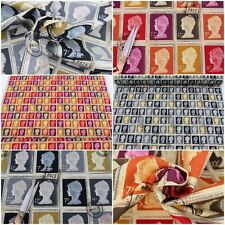 DESIGNER COTTON FIRST CLASS BRITISH STAMP PRETIGIOUS CUSHION UPHOLSTERY FABRIC