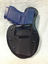 MTO Glock 36 IWB Holster Leather Kydex conceal CCW Appendix