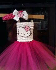 HELLO KITTY WHITE & PINK  tutu dress costume birthday party halloween