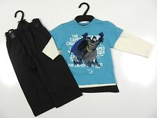 Marks & Spencer Boys Blue/Cream/Grey Batman Long Sleeve Pyjamas + Cape Set NEW!