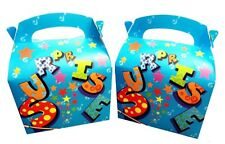 BLUE SURPRISE GIFT BOX & x 2 TISSUE PAPER FAVOUR PICNIC LUNCH MEAL BOXES PARTY