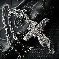 Herren Damen Kette Halskette Schmuck Mens Pendant Cross Necklace SN3224 DE