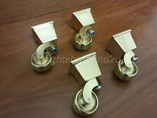 CASTOR SOCKET & CUP IN BRASS : FEET/LEGS : SETTEES, SOFAS, CHAIRS & FOOTSTOOLS
