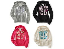 Aeropostale Junior Womens Girls Aero Stacked 87 Full-Zip Hoodie Sz M L & XL NWT