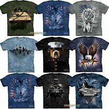 The Mountain Big Animal Face Wolf Tiger Dog Eagle Head Army Patriotic T-Shirts 2