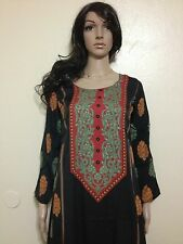 Kaftan Caftan Jalabiya Galabiya Abaya Hijab Scarf Black Dress Arabic Middle East