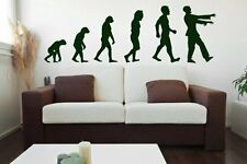 Evolution - Zombie - Large Wall Sticker & Wall Decal. Many colours. New.