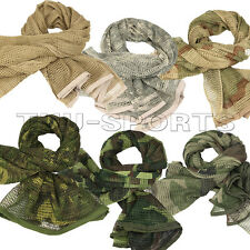 NEW Military Scrim Net Tactical Scarf Combat Sorgo Army Face Veil Patrol Netting